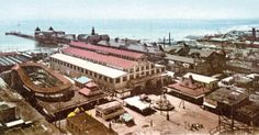 The Coney Island Athletic Club (also known as the Coney Island Sporting Club) opened in 1897 in the former Bauer's Casino bathhouse. The 10,000 seat barn-like building was located between Surf Avenue and the ocean at West 8th Street where the New York Aquarium parking lot is now located. The Jim Jeffries vs.Tom Sharkey heavyweight bout, fought at the club on November 3, 1899, was the first fight ever filmed.