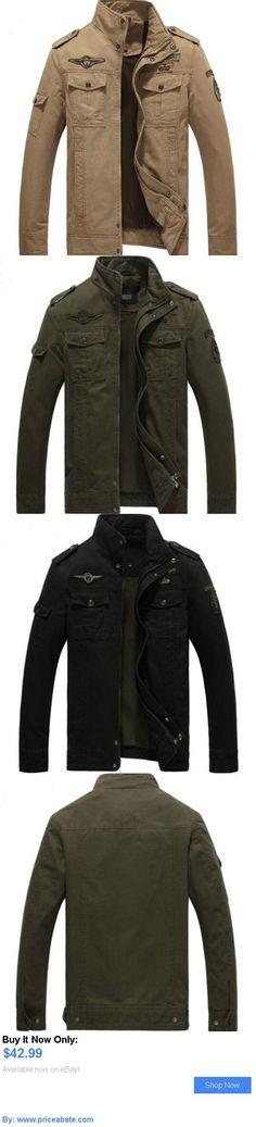Men Coats And Jackets: Hot Mens Coat Collar Zip Military Combat Slim Casual Cotton Jacket Fashion Coat BUY IT NOW ONLY: $42.99 #priceabateMenCoatsAndJackets OR #priceabate