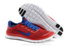 new concept 03110 021ed Rouge Bleu Chaussures Hommes Nike Free 3.0 V5 580393-664 Cheap Nike Running  Shoes,