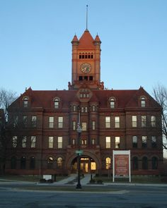 Historic landmark in Wheaton, Illinois -- the Old DuPage County Courthouse (picture by Katherine Johnson)