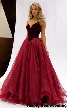 Burgundy Princess V Neck Organza Floor Length Ruffles Popular Long Prom Dresses