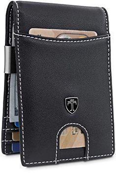 "TRAVANDO Money Clip Wallet""RIO"" - Mens Wallets slim Front Pocket RFID Blocking Card Holder Minimalist Mini Bifold Gift Box..................... #menwallets #wallets #moneyclip #cardholder"