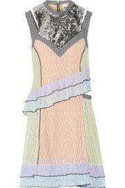 Sandy LiangImpala sequin-embellished gingham-trimmed lace dress