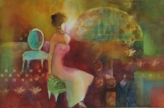 Interior with Girl...judy thorley