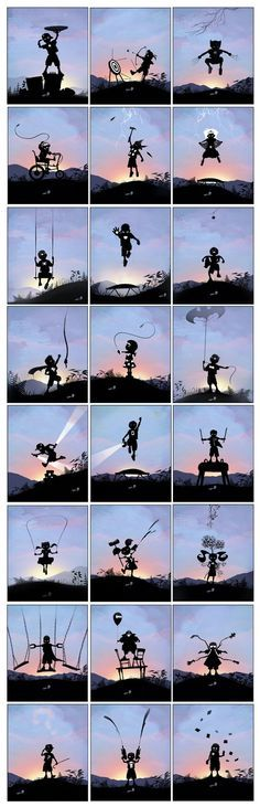 When I Grow Up I Want To Be... - Beautiful Silhouette / Noir style Illustrations by Andy Fairhurst (taken from andyfairhurst.deviantart.com)