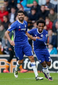 @Chelsea #Costa and #Willian #9ine