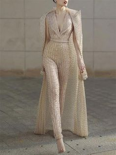 [New In Shop Now] Fashion V Neck Pure Colour Jumpsuit There are a lot of sexy fashion design jumpsuits, evening dresses, coats. The best choice for you, Mode Kimono, Latest Fashion For Women, Womens Fashion, Collar Dress, Women's Fashion Dresses, Fashion Jumpsuits, Womens Jumpsuits, Fashion Clothes, Mode Style