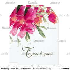 Wedding Thank You Customizable Flat Cards Romantic Watercolor Flower Painting Design Personalized Wedding Thank You Flat Cards. Matching Wedding Invitations, Bridal Shower Invitations, Save the Date Cards, Wedding Postage Stamps, Bridesmaid To Be Request Cards, Thank You Cards and other Wedding Stationery and Wedding Gift Products available in the Floral Design Category of our Store.