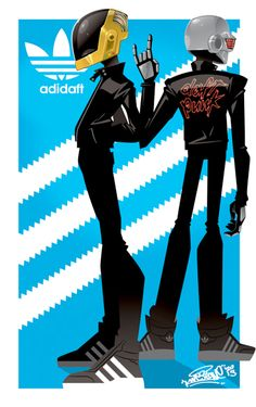 Daft Punk: Adidaft by KWESTONE.deviantart.com on @deviantART