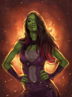Gamora guardian of the galaxy by milk00001.deviantart.com on @DeviantArt