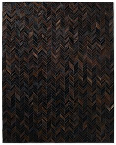 Chevron Cowhide Rug - Charcoal