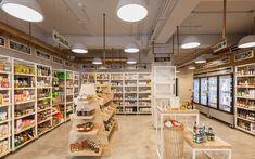 Shop Front Design, Store Design, House Design, Cafe Interior Design, Retail Interior, Convinience Store, Muji Cafe, Classic House Exterior, Supermarket Design