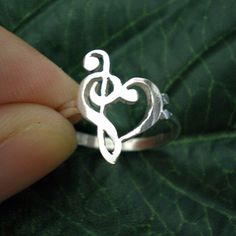 Treble Clef and Base Clef Heart Ring!!! SOO CUTE!