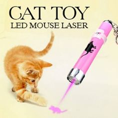 LED Laser Pointer With Bright Mouse Animation. Random Color – EZPet.net