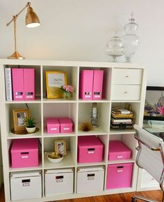 pink office decor. new office ikea storage and organization pink boxes from apothecary jar accent not for me tho office decor