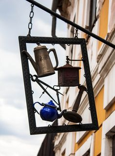 Hungary,  Szentendre - kitchen equipment shop .