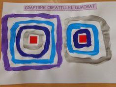 Arts Integration, Art Graphique, Teaching Art, Preschool, Arts And Crafts, Shapes, Activities, Math, Kandinsky