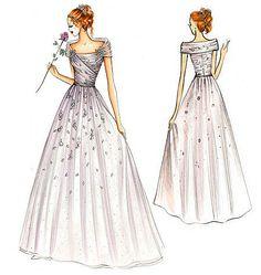 vogue wedding dress patterns   FS939   Marfy Dress   Bridal   Vogue Patterns
