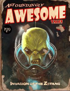 """Invasion of the Zetans"" Awesome Tales #4 Book - Fallout 4"