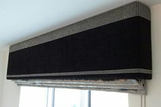 Sequin Pelmet with crushed metallic velvet Roman blind - Designed and Hand made by www.joannesmithinteriors.co.uk