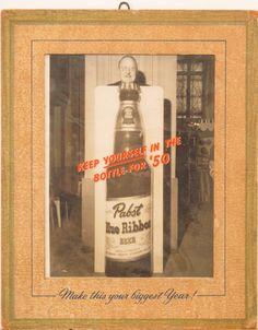Original Vintage Pabst Blue Ribbon 1950 Advertisement by HodesH, $100.00