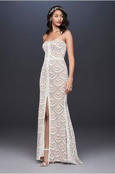 Find the perfect Galina wedding dress at David's Bridal. Our Galina bridal collection includes 2020 Galina wedding dresses in elegant designs! Galina Wedding Dress, Bohemian Wedding Dresses, Perfect Wedding Dress, Bridal Wedding Dresses, Wedding Dress Styles, Lace Wedding, Wedding Bells, Wedding Bride, Dream Wedding