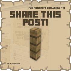 Fun Minecraft Challenge No19 - Share this Post. #minecraft #funminecraftchallenge