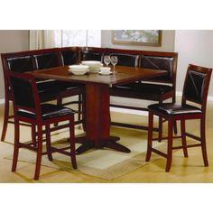 Coaster Lancaster 6 Piece Counter Height Dining Set - Coaster Fine Furniture