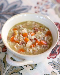 Chicken, Bacon & Rice Soup | Plain Chicken. ☀CQ #soups #stews