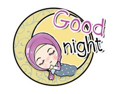 LINE Creators' Stickers - Lovely Muslimah Example with GIF Animation Night Night, Good Night, Emoji People, Line Sticker, Happy Day, Custom Stickers, Gifs, Animation, Cute