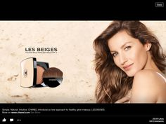 Chanel has tapped Brazilian beauty Gisele Bündchen as the new face of Chanel Beauty (not to Chanel Beauty, Beauty Ad, Chanel Makeup, Luxury Beauty, Gisele Bundchen, Gisele Hair, Les Beiges Chanel, Mekka, Perfume Ad