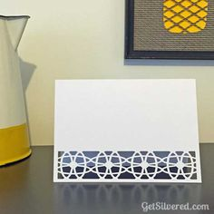 Card Base with Cut out Border. Free Silhouette Cutting File