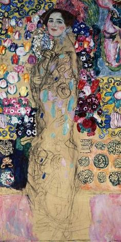Gustav Klimt Representational | Titre de l'image : Gustav Klimt - portrait de femme