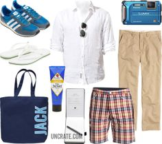 GARB: BEACH LINEN  Play hooky in a lightweight linen button-up. Take pictures, but destroy the evidence.