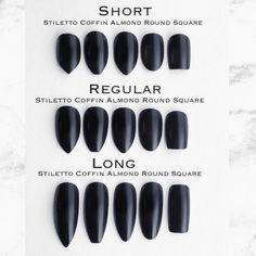 20 Nail Length Chart In 2020 Stiletto Nails Short Short Acrylic Nails Nail Length