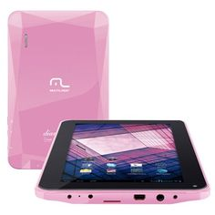 Tablet Multilaser Diamond com Android 2.3 Wi-Fi Tela 7'' Touchscreen Rosa e Memória Interna 512MB