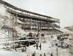 Forbes Field construction.