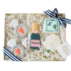 """Engagement Gift Idea for your Bestie    """"OMG. You're ENGAGED!"""" Cookies Gift Box from Sweet Kiera"""