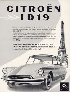 1960 Citroen ID19 Ad