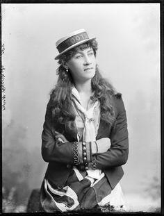 85/1286-498 Glass negative, full plate, 'Mrs H Rickards as Toots', unattributed studio, Sydney, Australia, c. 1880-1923
