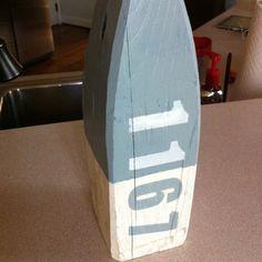 Wooden Buoy Address Art