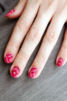 Check out our ikat nail DIY and pick up all the tools to recreate it with our Girl Crush Nail Kit.