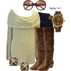 Cream & Brown, created by taytay-268 on Polyvore