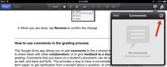 How to Use Comments on the Google Drive iPad App