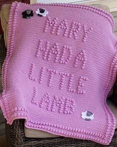 Mary Had A Little Lamb Blanket - $5.00 (CAD) by Marilyn Sehn