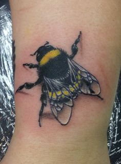 Bumble Bee Tattoo Design - http://tattooideastrend.com/bumble-bee-tattoo-design/ - #Bumble, #Design, #Tattoo