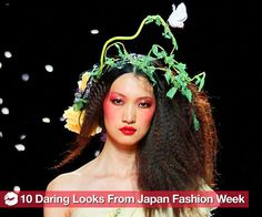 It's Japan Fashion Week, time for the designers of Tokyo to get together and show the rest of the world what they've got. The styles are always over the top, the mood festive, and the beauty way more fun than some of the more staid weeks (*cough* Milan