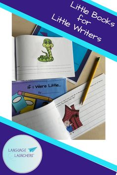 Learning to read is especially motivating when you wrote the book. Early writing prompts for each book template are fun and imaginative. School Age Activities, Hearing Impairment, English Language Learners, Language Development, Little Books, Speech And Language, Learn To Read, Writing Prompts, Teacher Pay Teachers