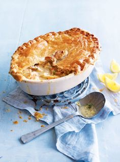 delicious fish recipes - Caper, lemon and dill fish pie with puff pastry top Top Recipes, Fish Recipes, Seafood Recipes, Curry Recipes, Drink Recipes, Fish Pie With Pastry, Pastry Recipes, Cooking Recipes, Delicious Magazine