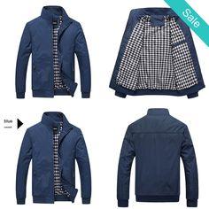 - On Sale for $59.99 (was $69.99) - Jacket - Blue Fashion Casual Outdoor Bomber Coat @runit365 #bomber #coat #jacket #youthfullness